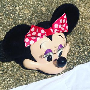 Vintage Minnie Mouse Face Snapback Hat 3D Molded Plastic 1993 Trucker Cap Disney for Sale in Cockeysville, MD