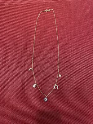 Gold charm necklace for Sale in Reedley, CA