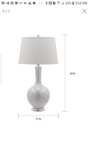 MOVING SALE, MUST GO ASAP!! White living spaces, table lamp for Sale in Santa Monica, CA
