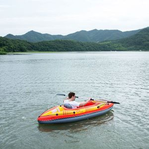 1-Person Inflatable Canoe Boat Kayak Set W/ Aluminum Alloy Oar Hand Pump for Sale in El Monte, CA