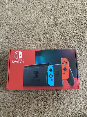 Nintendo Switch Console - Black with Neon Blue and Neon Red Joy-Controller for Sale in Edmonds, WA