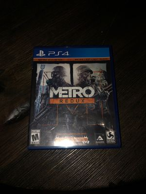 Ps4 metro redux for Sale in Knightdale, NC