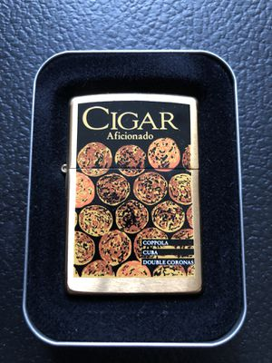 Vintage cigar aficionados zippo BRASS for Sale in Clinton Township, MI