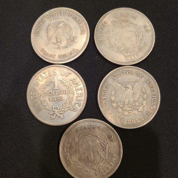Old 1 Dollar Coins 1797 - 1921
