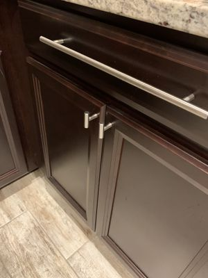 Large and small silver kitchen cabinet pulls knobs set for Sale in Sanford, FL
