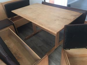 Breakfast nook, bench, seat,and table with storage for Sale in Santa Clara, CA