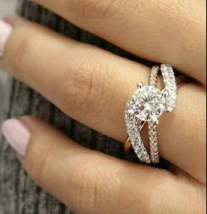 Sterling Silver s925 White Sapphire Ring for Sale in Wichita, KS