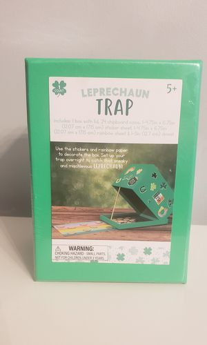 Leprechaun Trap Kit Craft Kids Irish St. Patrick's Day NEW for Sale in Austell, GA
