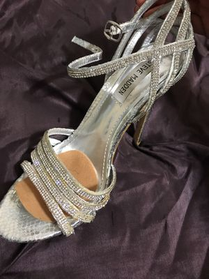 Steve Madden Wedding Heels: Silver Size 8.5 for Sale in Severn, MD
