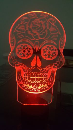 Day of the dead light custom made comes with light for Sale in Las Vegas, NV
