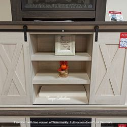 NEW, GRAY AND ANTIQUED WHITE COLOR, 54 inch TV STAND, SKU#TC287.gray and antiqued white color� for Sale in Huntington Beach,  CA