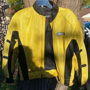 Yellow Motorcycle jacket for Sale in Fort Worth, TX