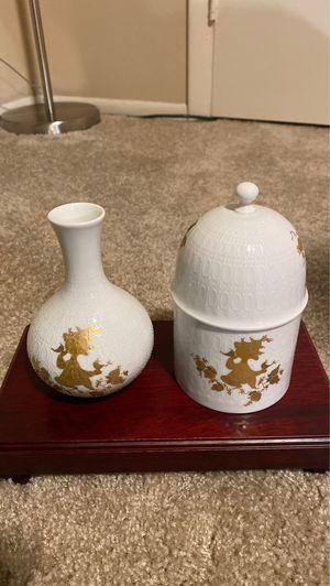 Rosenthal classic rose porcelain vase and Rosenthal porcelain covered dish(set) for Sale in Bradenton, FL