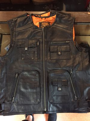 New leather motorcycle vest $100 for Sale in Whittier, CA