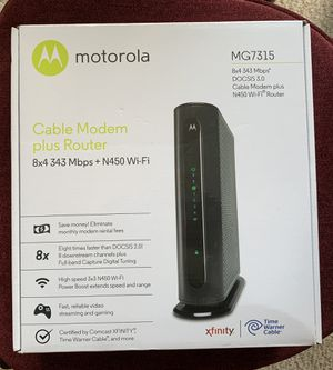 Motorola Comcast Modem for Sale in Sunnyvale, CA