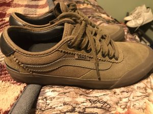 Boys size 6.5 Vans worn 1 time immaculate condition for Sale in Pueblo West, CO