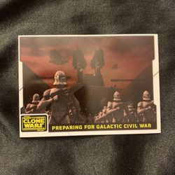 STAR WARS THE CLONE WARS COLLECTORS CARD for Sale in Riverside,  CA