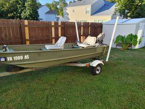 Jon Boat and Trailer for Sale in Carrollton, VA