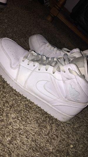 Jordan 1 triple white mid size 11.5 for Sale in Vicksburg, MI