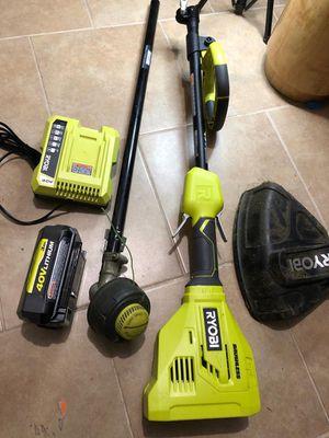 "Ryobi 40v 15"" brushless string trimmer kit for Sale in Dallas, TX"