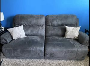 Microfiber Oversized Double recliner for Sale in Raleigh, NC