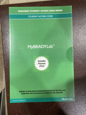 MyBradylab with Pearson eText -- Access Card -- for Emergency Care (Limmer) 13th Edition ISBN-13: 978-0133946093, ISBN-10: 0133946096 for Sale in Stanwood, WA