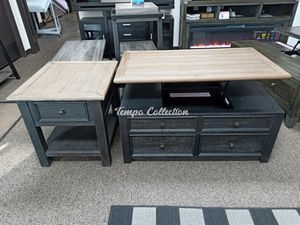 2 PC Lift Top Cocktail and End Table, Greyish Brown, SKU# ASHT736-3/20TC for Sale in Santa Fe Springs, CA
