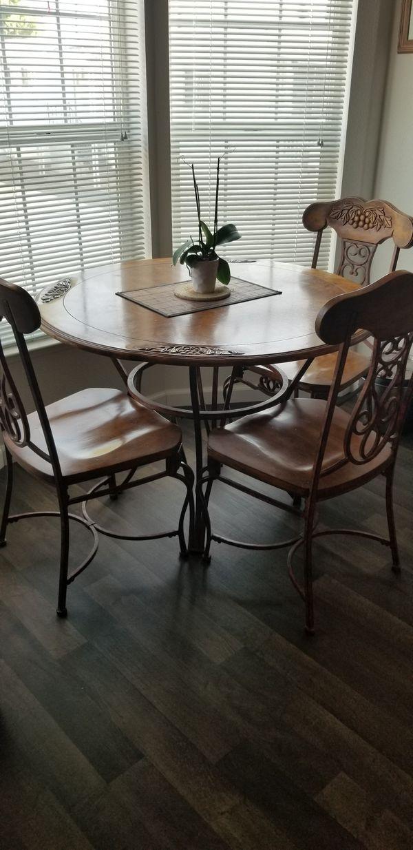 Solid oak kitchen table set