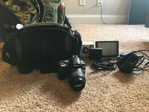 Nikon d40x camera with accessories, extra lenses, and carrying case for Sale in Henderson, NV