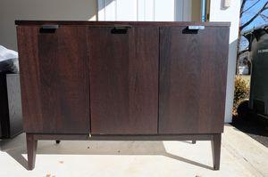 Crate & Barrel 3 Three Door Large Sideboard, Espresso for Sale for sale  Eatontown, NJ