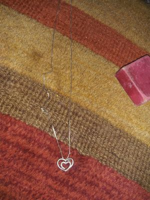 Sterling silver necklace n heart for Sale in Dallas, TX