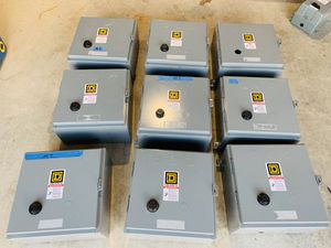 SQUARE D NEMA DIFFERENT SIZE MOTOR STARTERS W/ ENCLOSURE SOLD AS IS for Sale in Mukilteo, WA