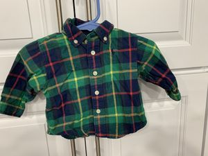 Infant Ralph Lauren Plaid Shirt Size 3M for Sale in Tacoma, WA