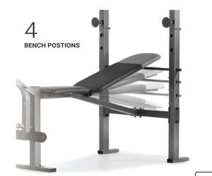 Adjustable weights bench with racks, and, quads and hamstrings developer for Sale in Southington, CT