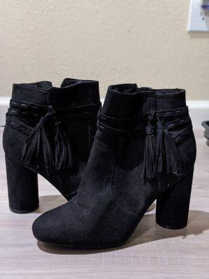 Fringe booties worn once to big. for Sale in Denver, CO