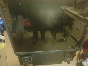 """Free 55"""" big back tv Panasonic the speakers don't work on the tv but the tv work well for Sale in La Vergne, TN"""