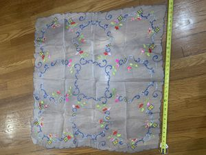 Antique vintage Lovely Italian organdy tea cloth for Sale in Chicago, IL