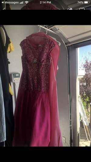 Size 8 prom homecoming quinceanera dress pink for Sale in Las Vegas, NV