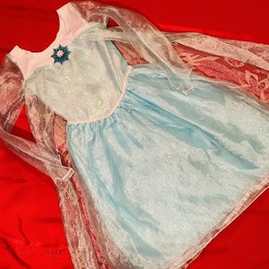 Disney Authentic Classic Frozen Elsa Dress Sequin Princess Girls Child 4-6 Small for Sale in Moses Lake, WA