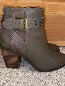 Gray Crown Vintage Faux Leather Booties for Sale in Souderton,  PA