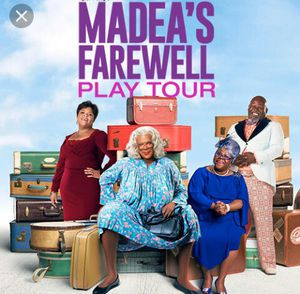 Tyler Perry Madea Farewell Tour Tickets Sec 1 $80 each for Sale in Baltimore, MD