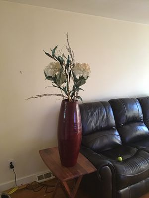 Vase with flowers for Sale in Westwood, MA