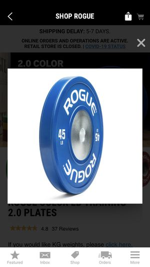 Rogue color training plates 2.0 for Sale in Orange, CA