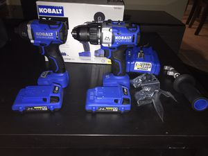 Kobalt 24v power tools includes 2 batteries for Sale in Sacramento, CA