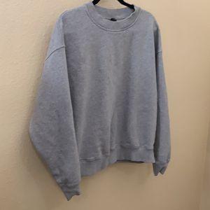 Top shop Women's Grey Sweatshirt Size 8 Large for Sale in San Diego, CA