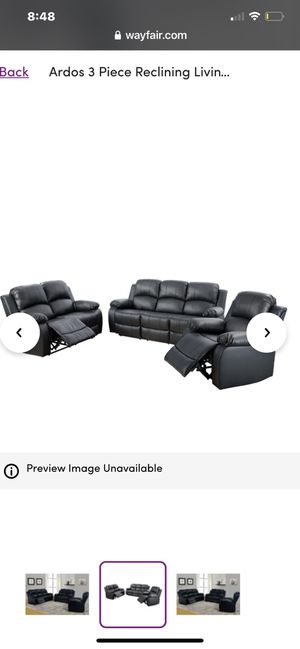 Full Italian Leather Reclining Couches and Tables for Sale in Union City, CA