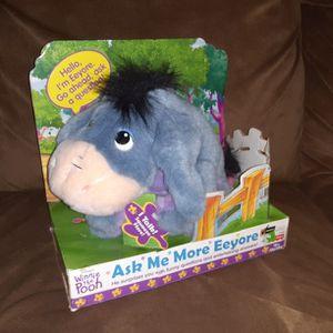 Vintage 1999 Disney's Mattel Fisher Price Winnie the Pooh Ask Me More Eeyore for Sale in Los Lunas, NM