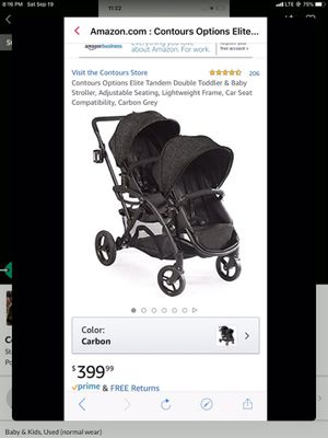 Contours Options Elite Tandem Double Stroller with Accessories for Sale in Staten Island, NY