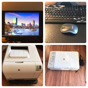 Free delivery Monitor, Laser Printer, Scanner, Keyboard Mouse for Sale in Melrose, MA