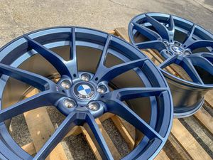 """Bmw 19"""" m style rims tires set for Sale in Hayward, CA"""